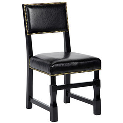 Abandon Side Chair - Distressed Black