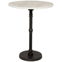 Antonie Side Table - Cast Iron and Stone