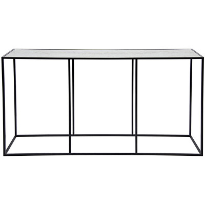 noir convention sofa table metal antiqued mirror. Black Bedroom Furniture Sets. Home Design Ideas