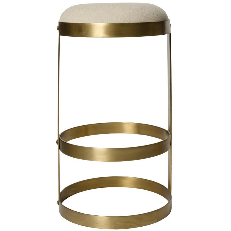 Noir Dior Bar Stool Antique Brass
