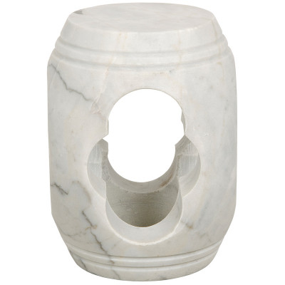 Noir Legend Stool White Stone