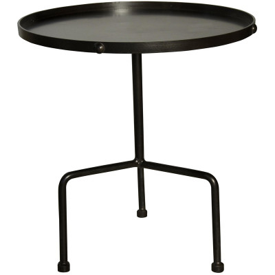 noir paige side table metal. Black Bedroom Furniture Sets. Home Design Ideas