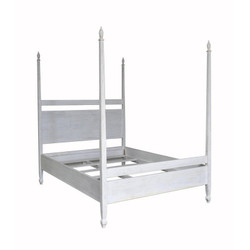Venice Bed - E King - White Wash