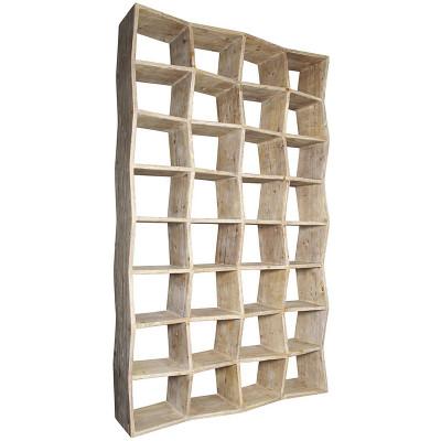 noir zigzag bookcase. Black Bedroom Furniture Sets. Home Design Ideas