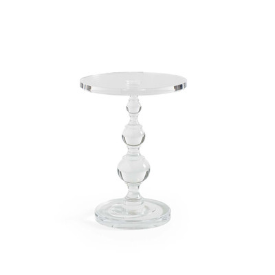 All Clear   Acrylic Pedestal Side Table