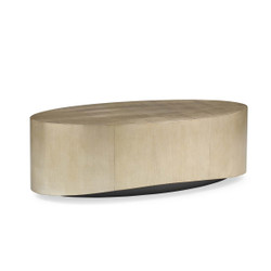Come Oval Here! - Contemporary Gold/Silver Oval Cocktail Table