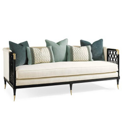 Lattice Entertain You - Bench Seat Sofa with Lattice Accents