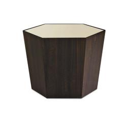 """What'S Your Point - Gold Mirrored Top 28"""" Hexagonal Cocktail Table"""