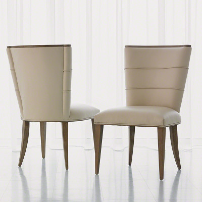 Studio A Adelaide Side Chair Beige Leather