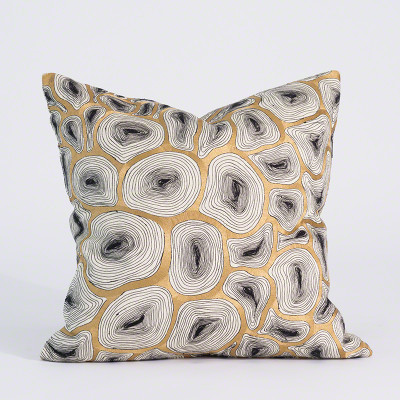 Agate Pillow - Black & Gold