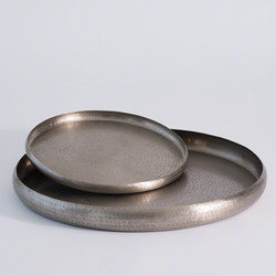 Offering Tray - Antique Nickel - Lg