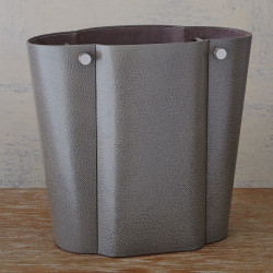 Serpentine Wastebasket - Grey Pebble
