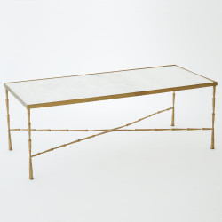 Spike Cocktail Table w/ White Marble