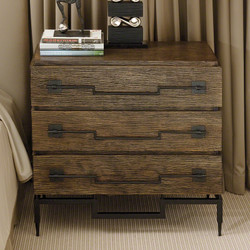 3 Drawer Wide Chest - Dark Brushed Mango