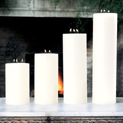 "3 Wick Pillar Candle - Unscented - 5""x18"""