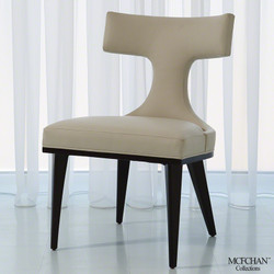 Anvil Back Dining Chair - Ivory Leather