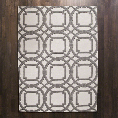 Arabesque Rug - Grey/Ivory - 5' x 8'