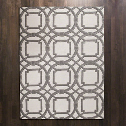 Arabesque Rug - Grey/Ivory - 6' x 9'