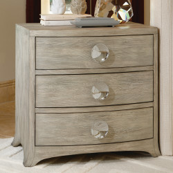 Bow Front 3 Drawer Chest - Grey