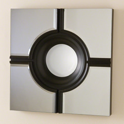 Bull's Eye Cross Mirror - Black