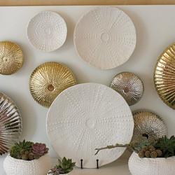 Ceramic Urchin Platter - Matte White - Sm