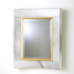 Curved Short Mirror - White Hair - On - Hide