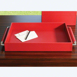 Double Handle Serving Tray - Crimson
