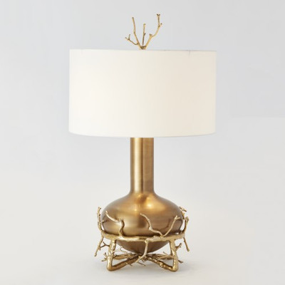Attractive Fat Brass Twig Table Lamp