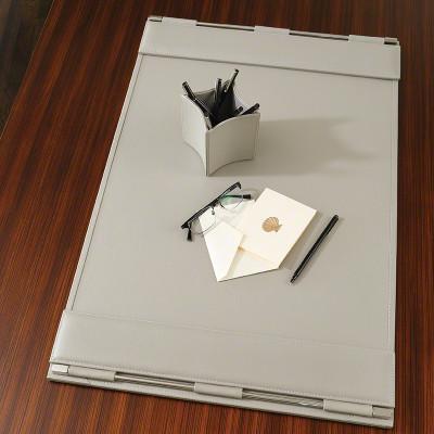 Global Views Flap Desk Blotter Grey Interior Homescapes