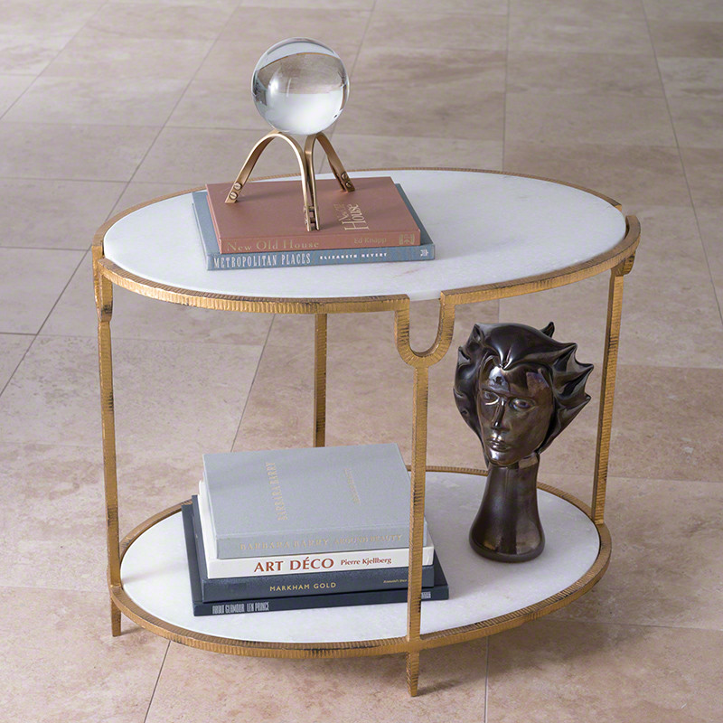 Best Of The Week 9 Instagrammable Living Rooms: Global Views Iron And Stone Side Table