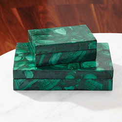Malachite Stone Box - Sm