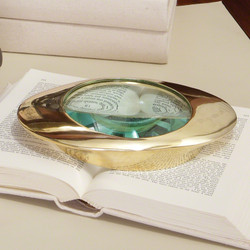 Oval Magnifying Glass - Brass