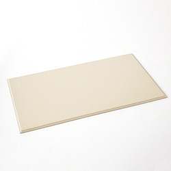 Refined Leather Desk Blotter in Ivory