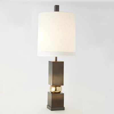 Global Views Squeeze Lamp Brass Bronze Interior Homescapes