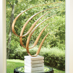Swoosh Sculpture - Gold