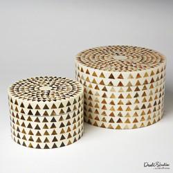 Triangle Stripe Box - Round - Sm