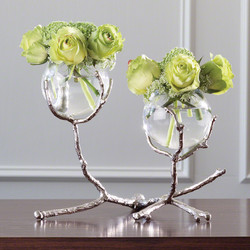 Twig 2 Vase Holder - Nickel