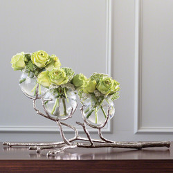 Global Views Twig 3 Vase Holder - Nickel