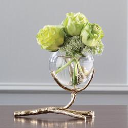 Twig Vase Holder - Brass