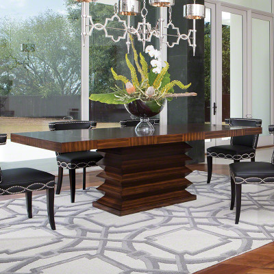 Global Views Zig Zag Dining Table Interior Homescapes