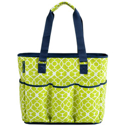 Extra Large Insulated Cooler Tote - Trellis Green image 1