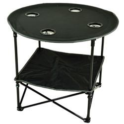 Canvas Picnic Table - Black image 1