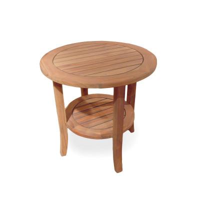 teak24 lloyd flanders teak 24 round tapered leg end table with shelf essen ernestinenstr