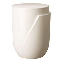 Accel Stool/Table - White
