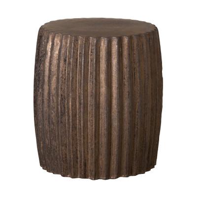 Etonnant Pleated Garden Stool/Table   Metallic