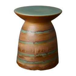 Stool Table - Jade Swirl