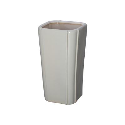 Emissary Quadrant Open Vase Gray