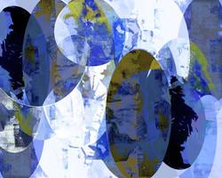 Art Classics Blue Oval Circle IV