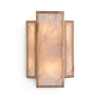 John Richard Calcite Panel TwoLight Wall Sconce - Two light bathroom sconce