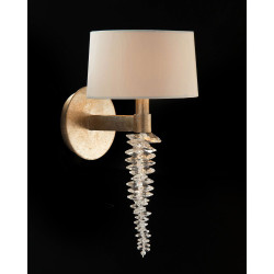 John Richard Cascading Crystal Waterfall One-Light Wall Sconce